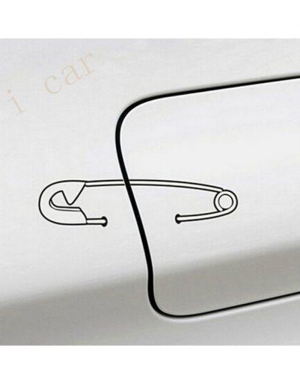 sticker auto capac rezervor safety pin