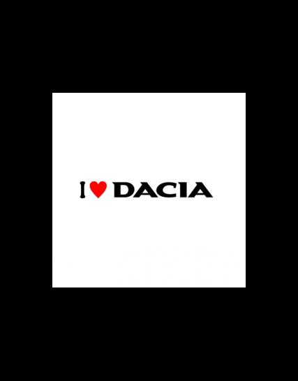 sticker i love dacia v2