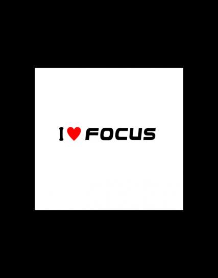sticker i love focus