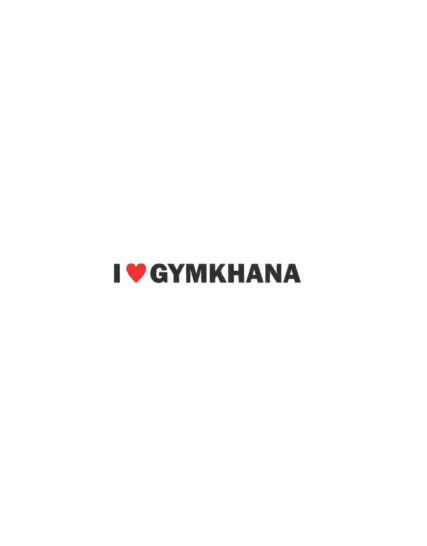 sticker i love gymkhana
