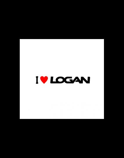 sticker i love logan 1