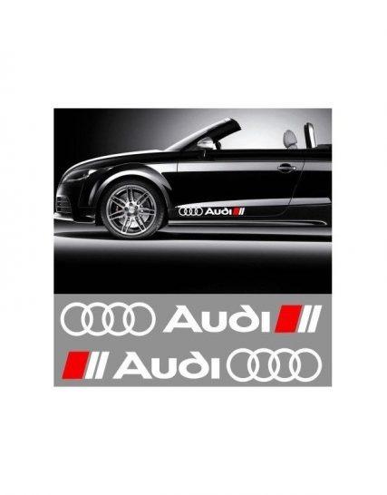 sticker ornament auto lateral audi 1