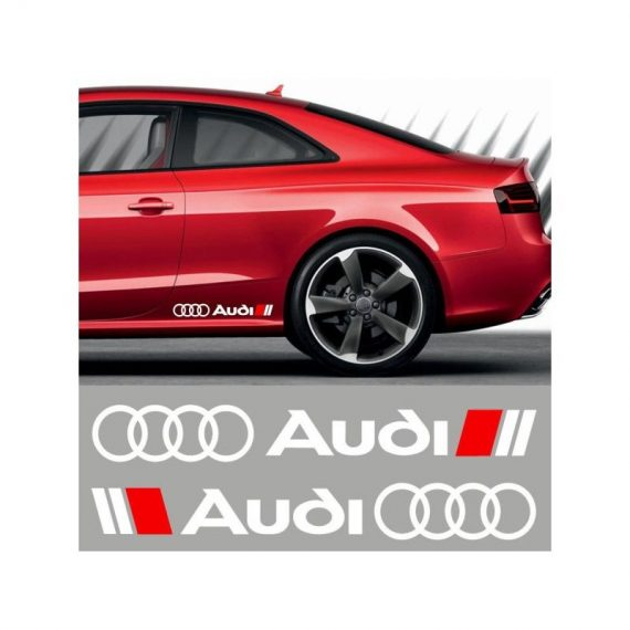 sticker ornament auto lateral audi 3