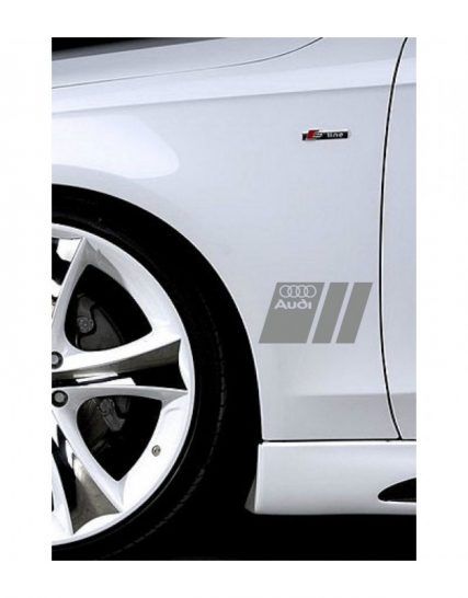 sticker ornament auto lateral audi v3 1