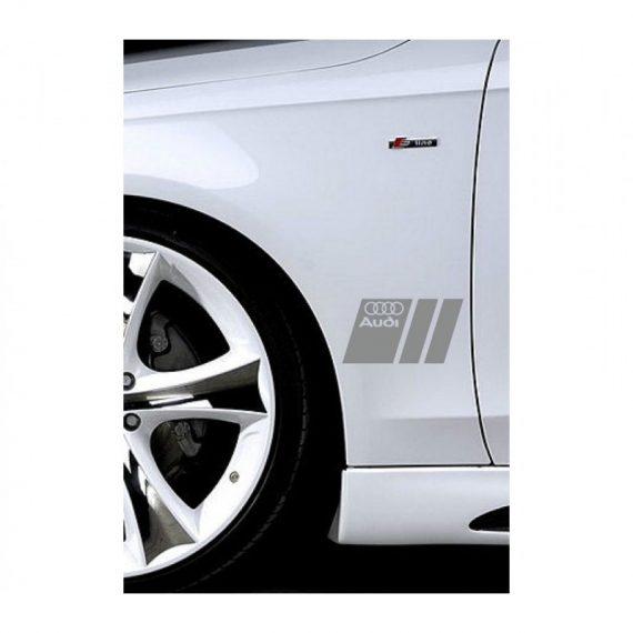 sticker ornament auto lateral audi v3 1