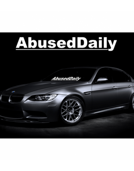 sticker parbriz abused daily