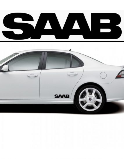 sticker prag saab set 2 buc