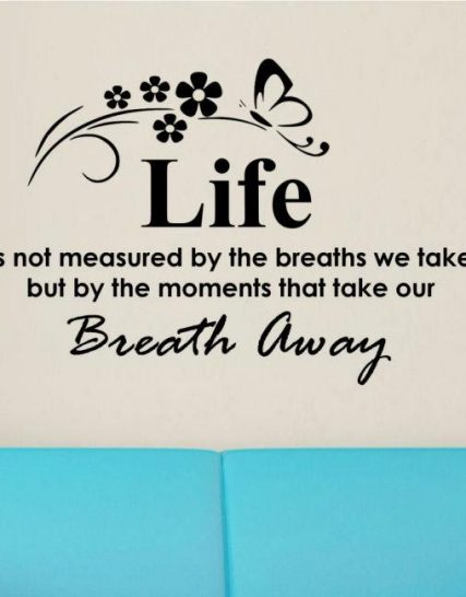 breath away sticker pe perete 1