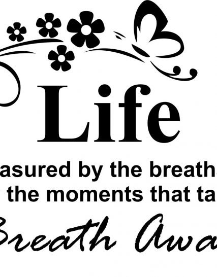 breath away sticker perete