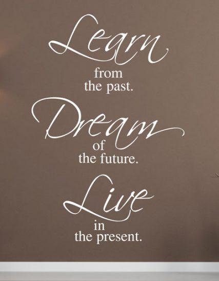 learn dream live stickere perete